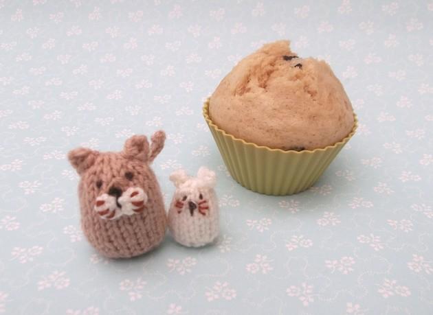 Steamed Tahini cupcakes
