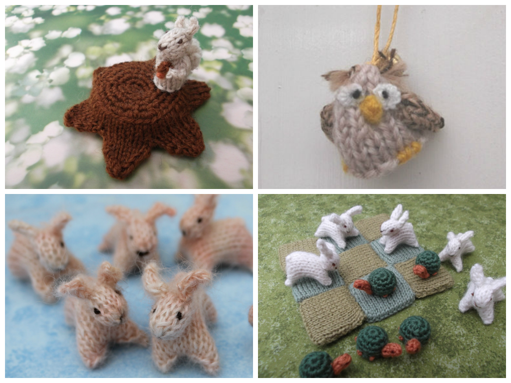 Knitting Patterns For Miniature Animals : Mini Knitted Woodland knits by sachi
