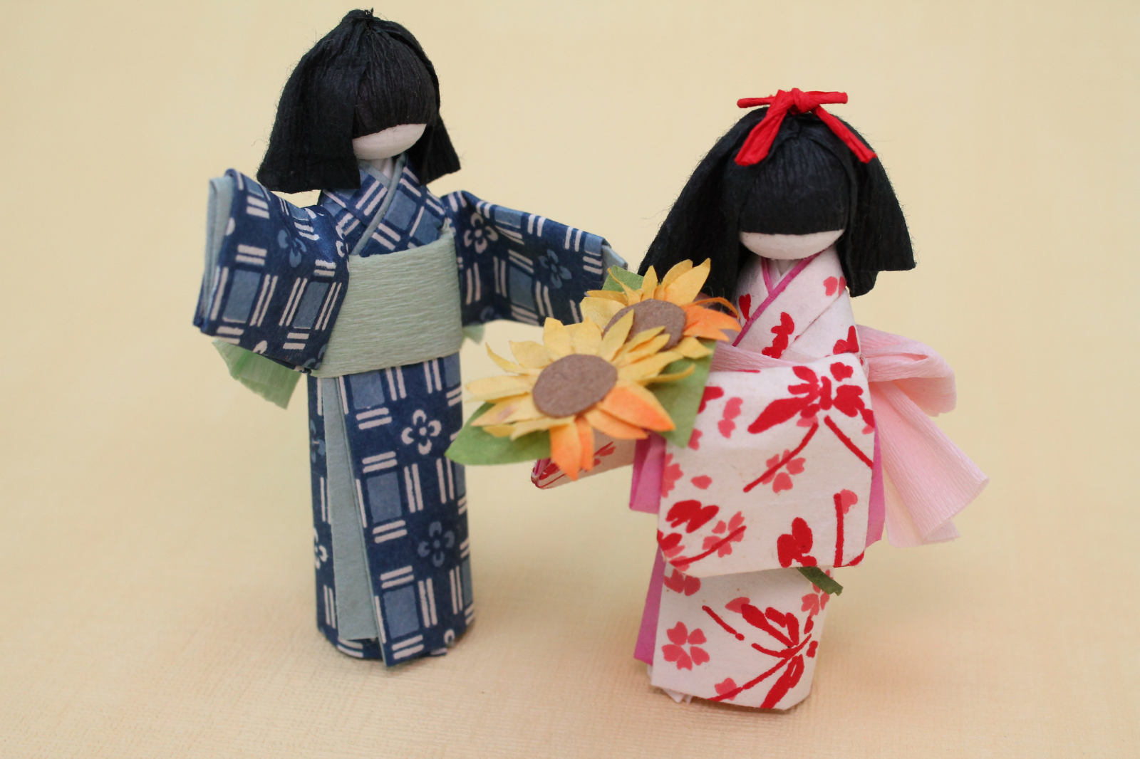japanese origami paper doll instructions