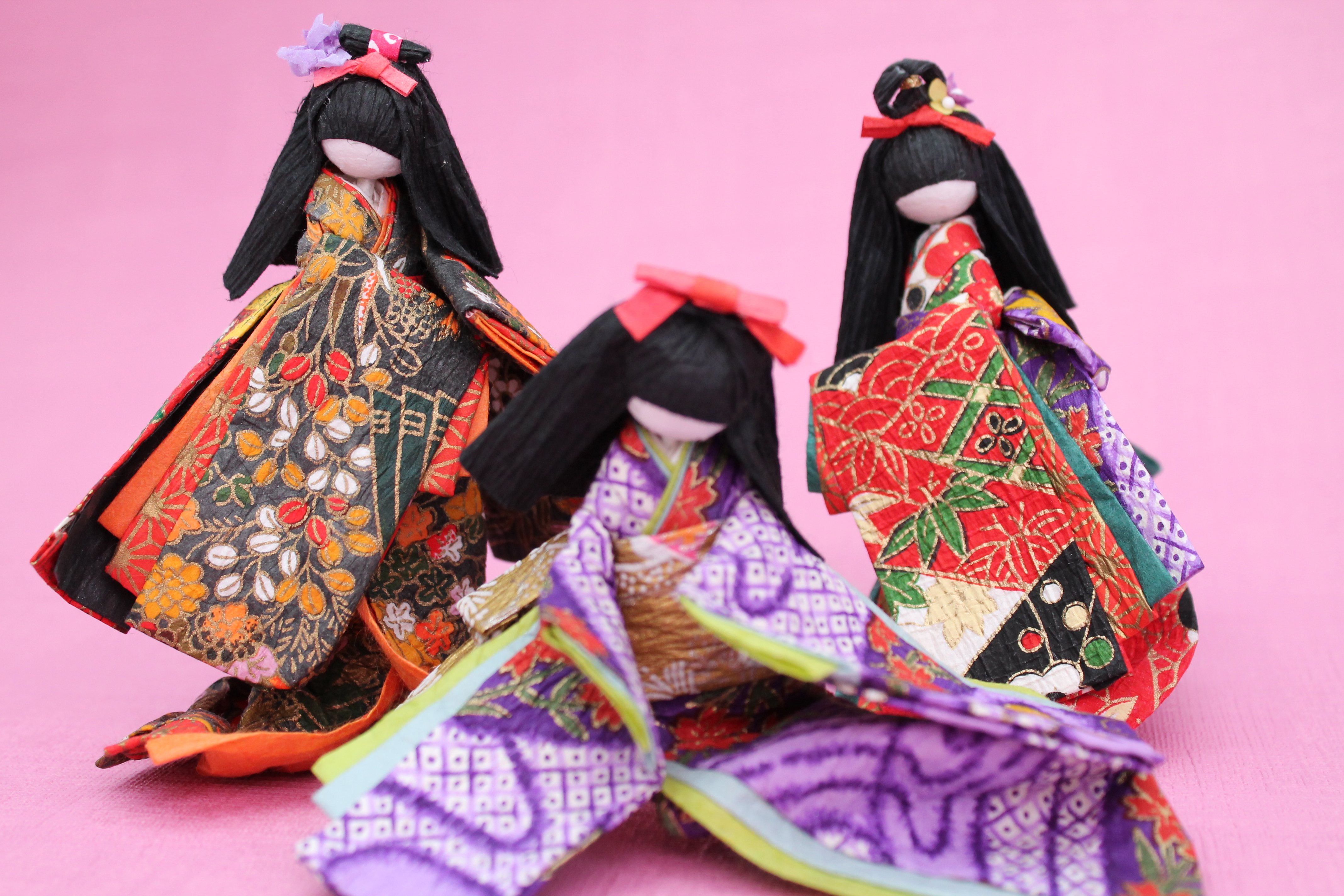 Japanese paper dolls paper knits by